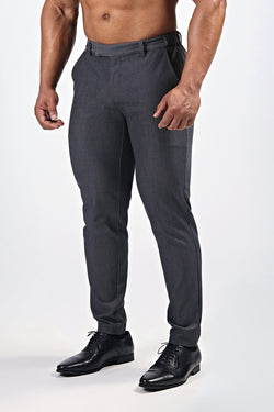 Premium Stretch Trousers in Charcoal