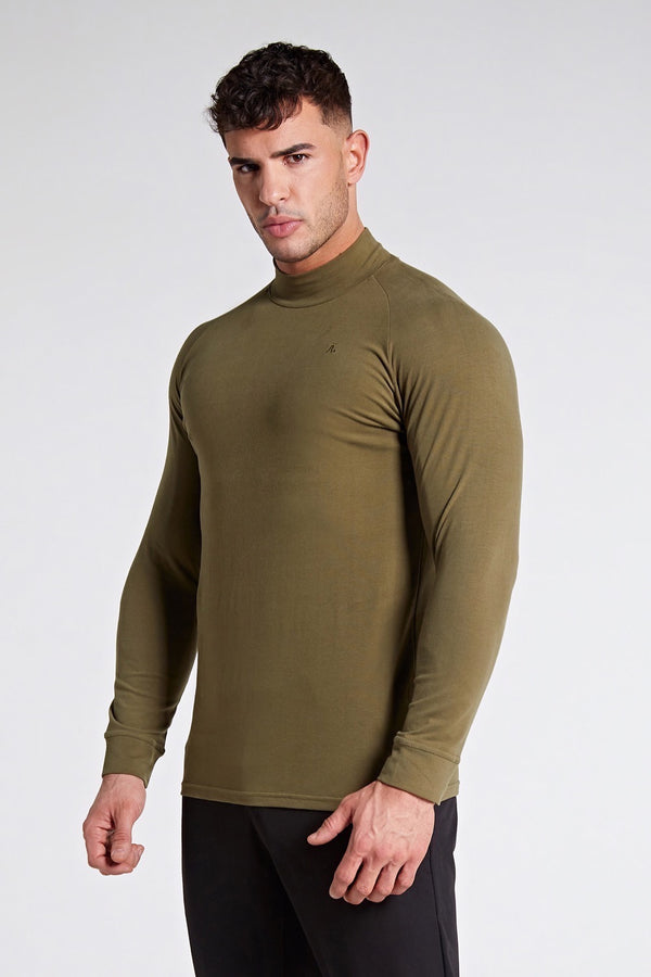 Turtle Neck in Dark Olive