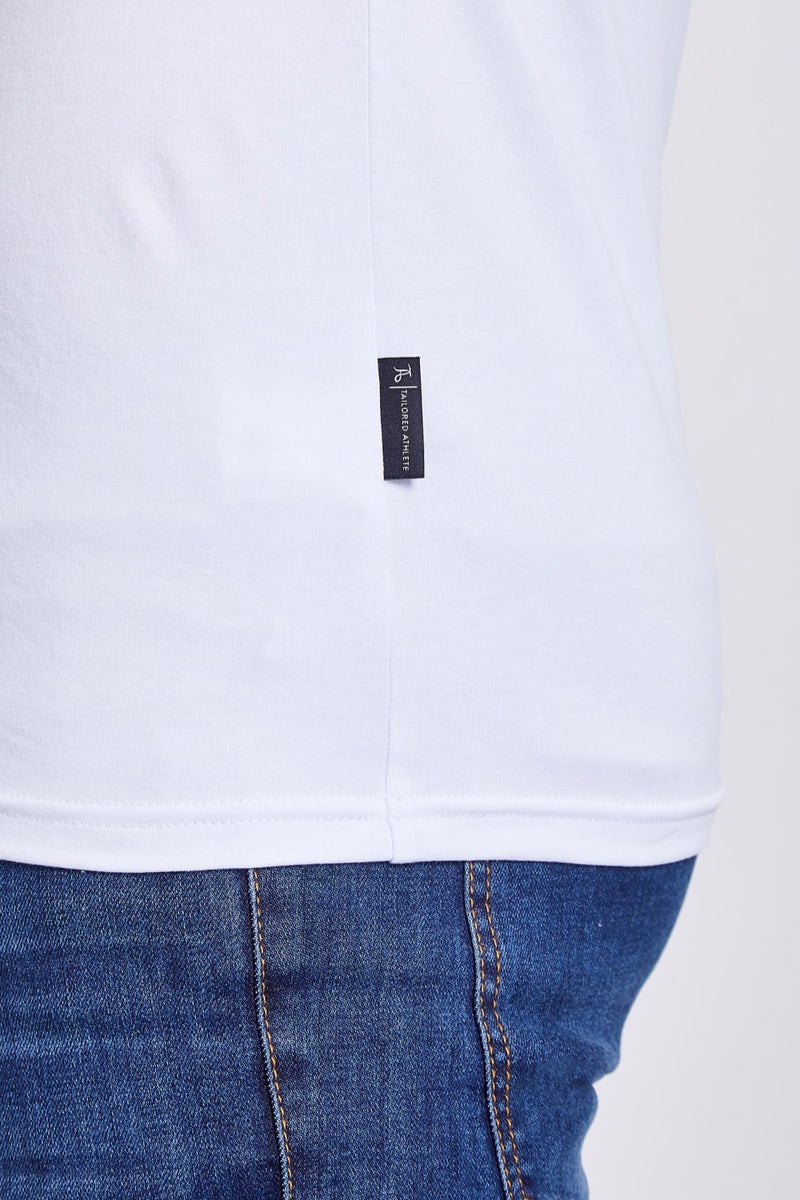 Zip Polo Shirt in White