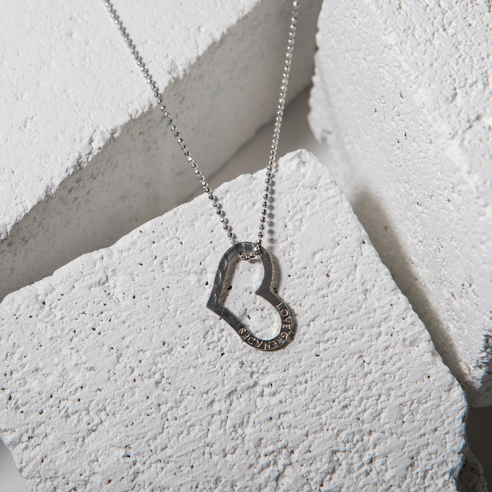 Open Heart Necklace - Large