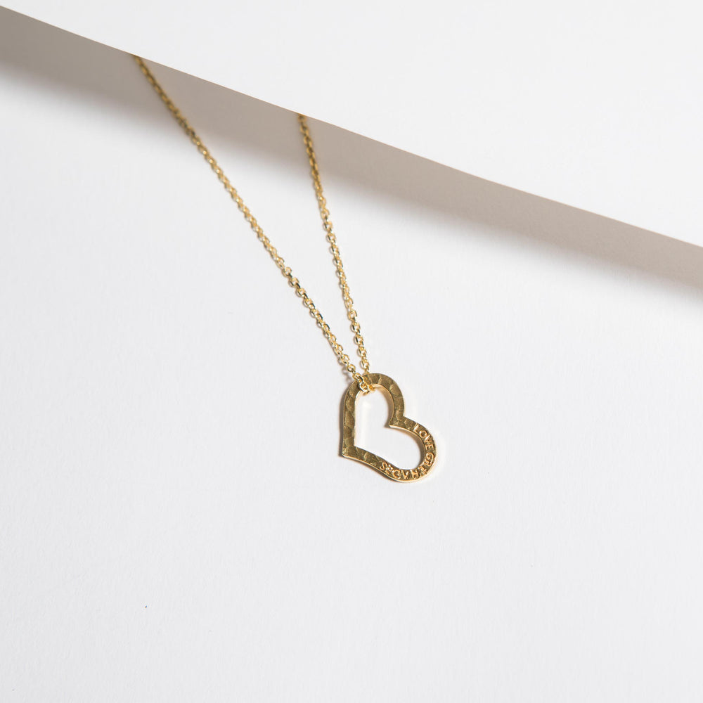 Open Heart Necklace - Small