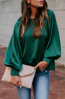 Pericoat Solid Loose Lantern Sleeves Blouse