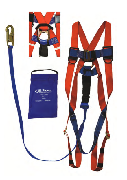 Elk River Aerial Lift Kit, S-L, Full Body Harness and Lanyard