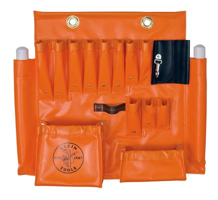 Large Orange Vinyl Tool Apron
