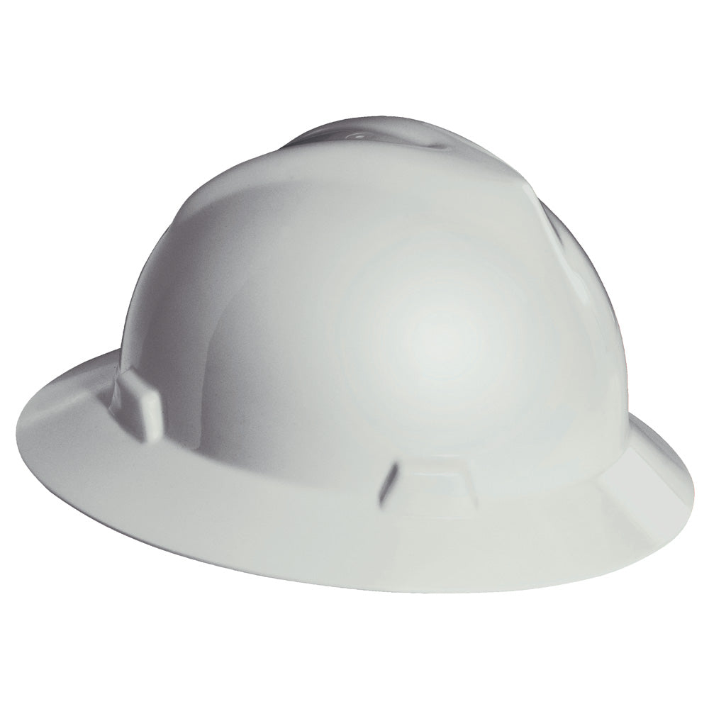 Hard Hat V-Gard - White BAck - KT Logo with Flag