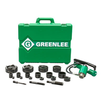 11-Ton Hydraulic Knockout Kit with Hand Pump and Slug-Buster® 1/2