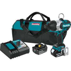 "Makita 18V LXT® Lithium-Ion Brushless Cordless High Torque 7/16"" Hex Impact Wrench Kit, 5.0Ah"