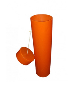 "Blanket Canister, Orange, 37"" x 10"""