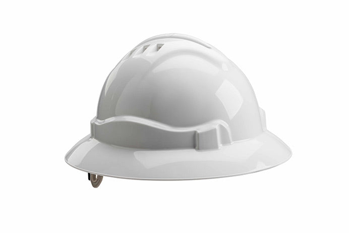 Serpent Safety Helmet, White, Full Brim, ANSI Z89, Type 1, Class E,G&C