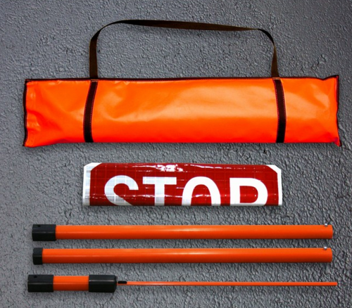 Vinyl Roll-Up Stop & Slow Paddle Kit, Reflective Superbright