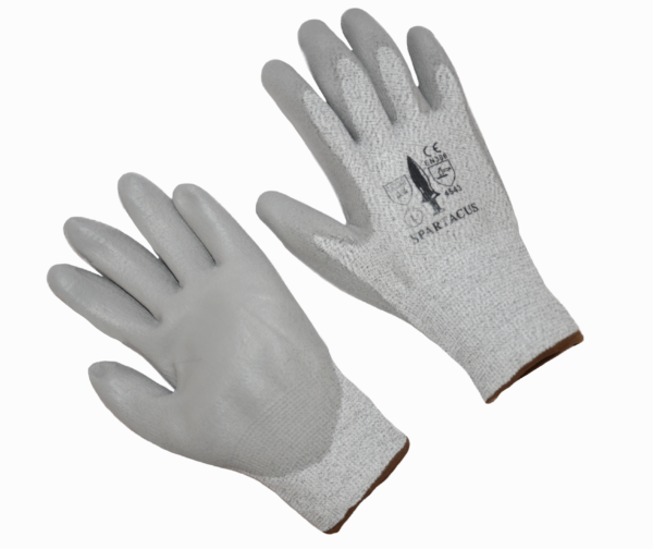 Gloves, Cut resistant knit, cut level 3, PU palm coated X-Large