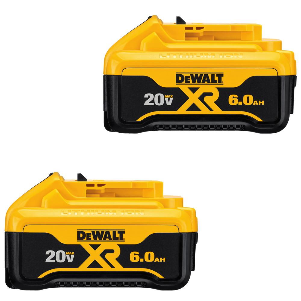 20V MAX 6.0 AH LI-ION BATTERY 2PK