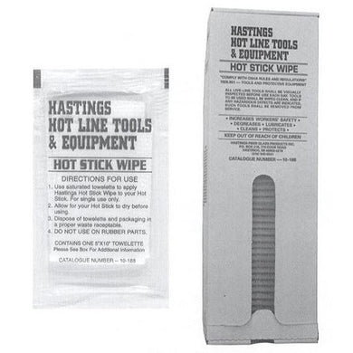 50 ea Hot Stick Wipes in Dispenser Box