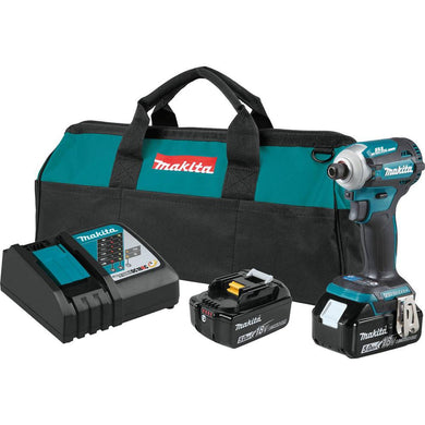 18V LXT® Lithium‑Ion Brushless Cordless Quick‑Shift Mode™ 4‑Speed Impact Driver Kit (5.0Ah)
