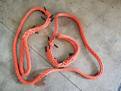 "1-5/8"" x 30' tow line with 2' chafe protected eye each end.  Fiber:HMPE MBS: 270,000lbs."