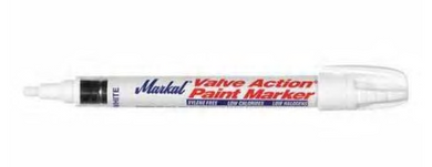 Industrial Paint Marker, Medium Tip, White