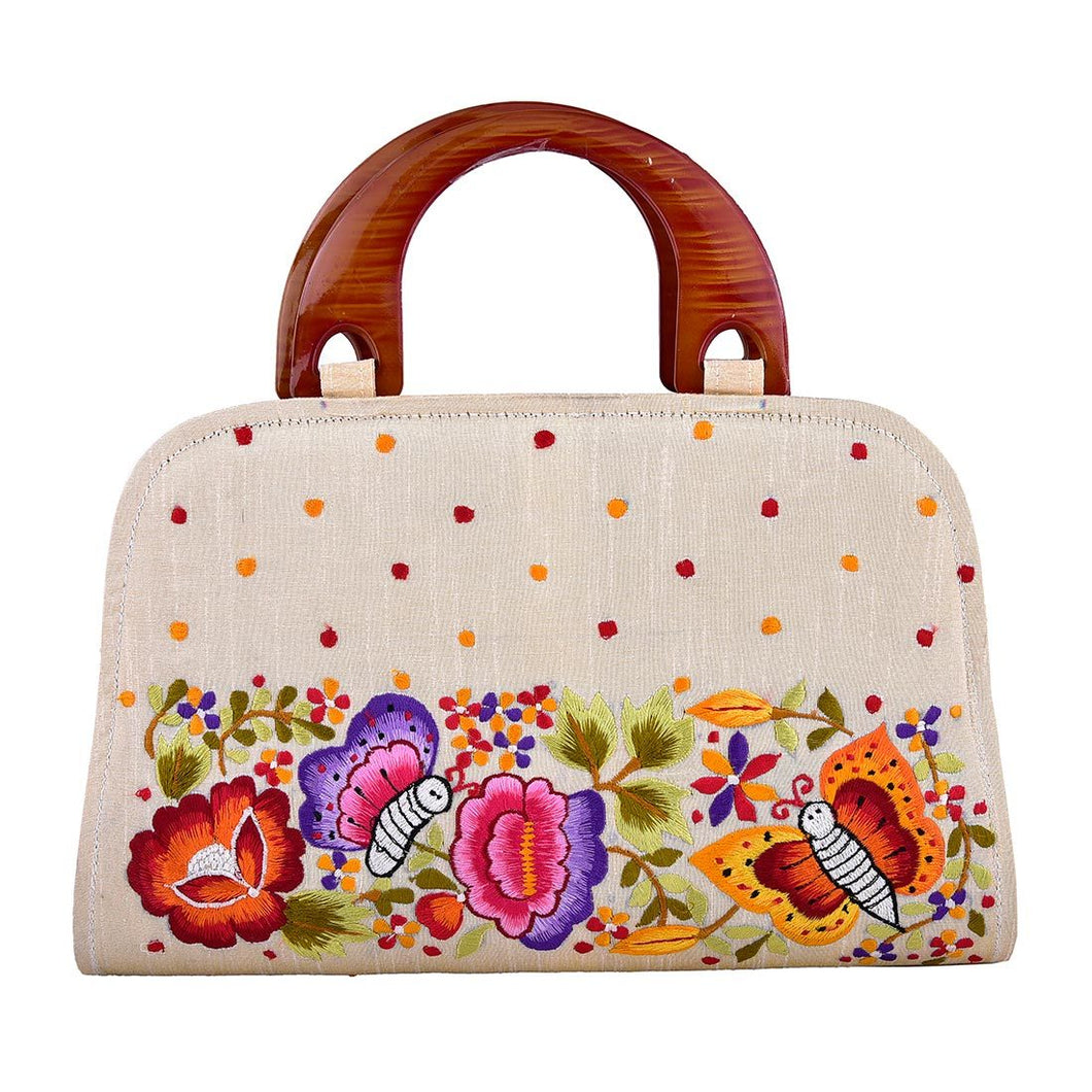 Butterfly Embroidery Pretty Handbag