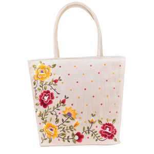 Beautiful Embroidery Shopping Handbag