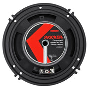 Kicker KSS6504 KSS650 6.5 inch Component System with 1 inch tweeters 4-Ohm
