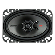 Kicker KSC4604 KSC460 4x6 inch Coax Speakers with .5 inch tweeters 4-Ohm