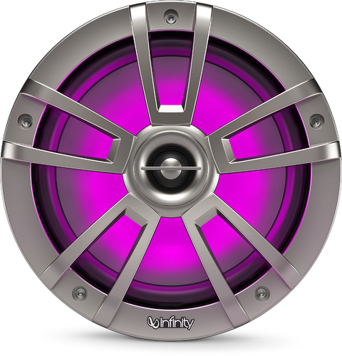 Infinity 822MLT Marine 8 Inch RGB LED Coaxial Speakers - Titanium