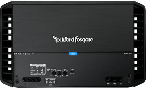 Rockford Fosgate P500X2 500W RMS Punch Series 2-Channel Stereo Class AB Car Power Amplifier + 4 Gauge ANL Amp Kit