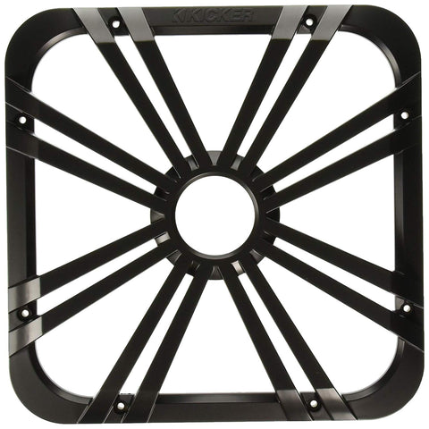"Kicker L712GLC 12"" Square Subwoofer LED Grill - Charcoal"