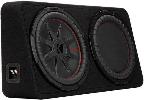 "KICKER - 48TCWRT672 - CompRT 6.75""(165mm) Subwoofer in Thin Profile Enclosure, 2-Ohm, 150W"