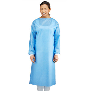 Nonwoven 100% Polyester Disposable Medical Isolation Gown, 45gsm