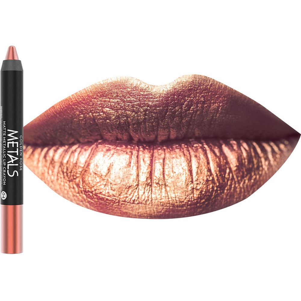 Golden Rose Metals Matte Metallic Lip Crayon