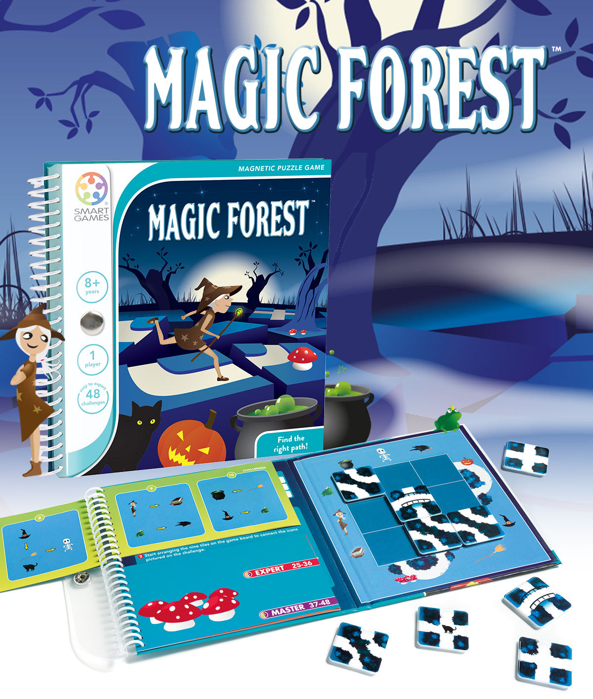 Smart Games - Magic Forest Magnetic Travel Game