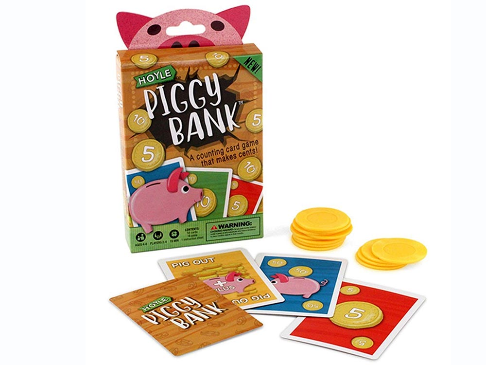 Piggy Bank - A Counting Card Game that makes Cents