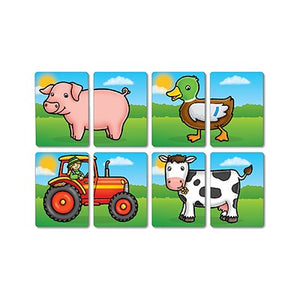 Farmyard Heads and Tails Matching Game