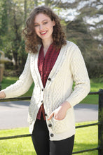 c9882e70a Women s V Neck Aran Cardigan - Natural – togetyougoods