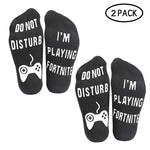 2Pack/set Men Women Socks 'Do Not Disturb, I'm Playing' Funny Ankle Socks Great Gamer Gift for games Lovers