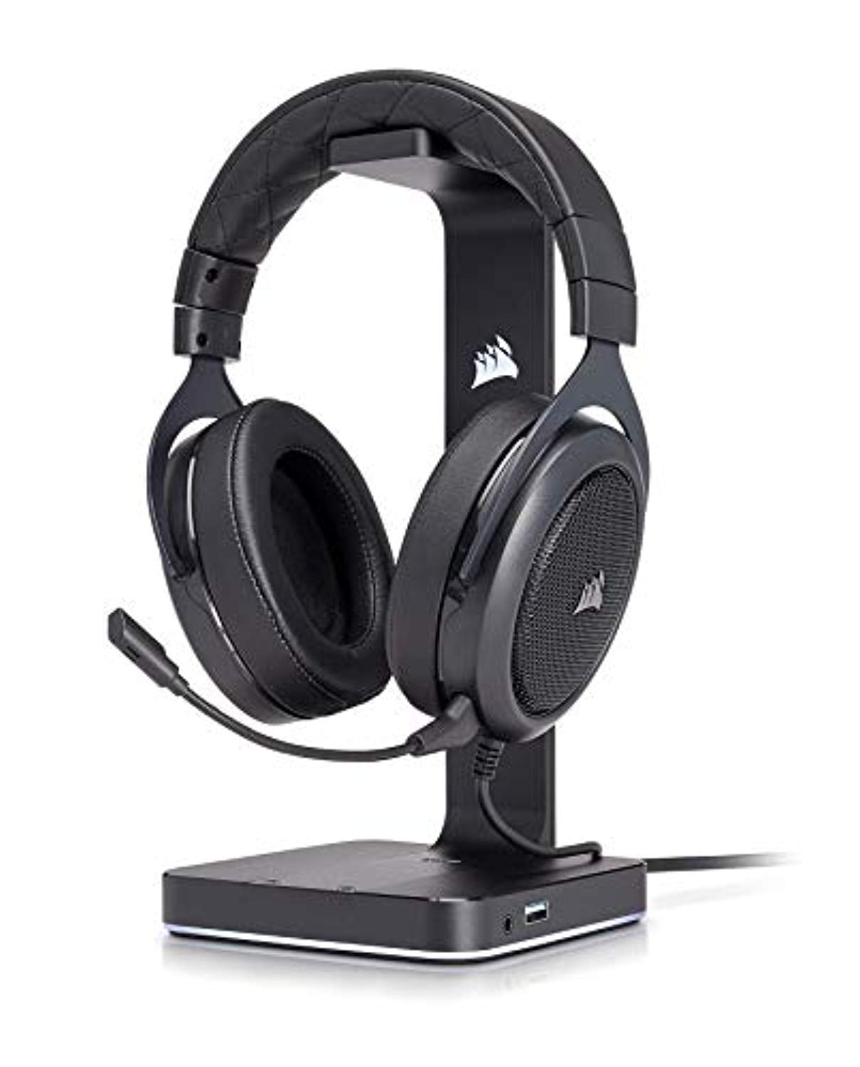 CORSAIR HS50 - Stereo Gaming Headset - Discord Certified Headphones - Works PC, Mac, Xbox One, PS4, Nintendo Switch, iOS Android – Carbon
