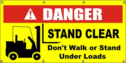 DANGER - Stand Clear (Fork Lift) - SBS210