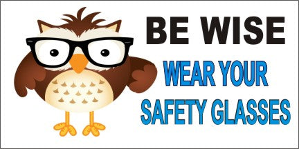 Be Wise, Wear Your Safety Glasses - SBS265