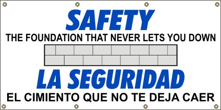 Safety The Foundation That Never Lets You Down (English and Spanish) - SBS549