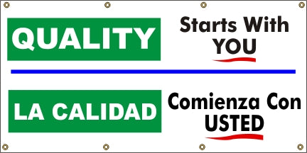 Quality Starts With You (English and Spanish) - SBS551