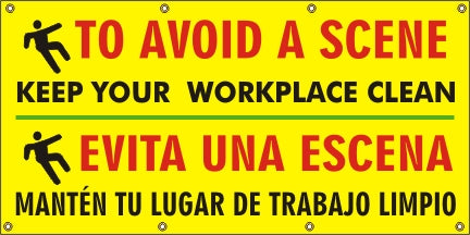 To Avoid A Scene – Keep Your Workplace Clean (English and Spanish) - SBS556