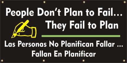 People Don't Plan To Fail...They Fail To Plan (English and Spanish) - SBS560