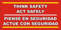 Think Safety - Act Safely (English and Spanish) - SBS587