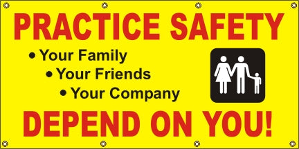 Practice Safety, We Depend On You - SBS030