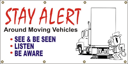 Stay Alert Around Moving Vehicles - SBS055