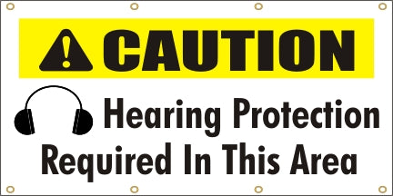 Caution - Hearing Protection Required In This Area - SBS118
