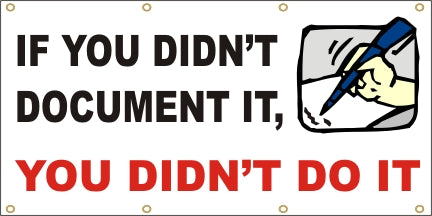 If You Don't Document It, You Didn't Do It - SBS140