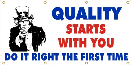 Quality Starts With You, Do It Right The First Time - SBS143