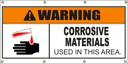 Warning: Corrosive Materials - SBS401