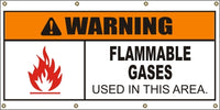 Warning – Flammable Gases Used In This Area - SBS402